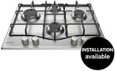 Hotpoint PCN642IXH 60cm Wide Built-in Hob With Optional Installation - Stainless Steel