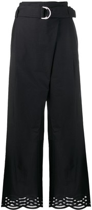 P.A.R.O.S.H. Belted Wide-Leg Trousers