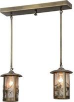 Fulton Song Bird 2-Light Kitchen Island Linear Pendant Meyda Tiffany