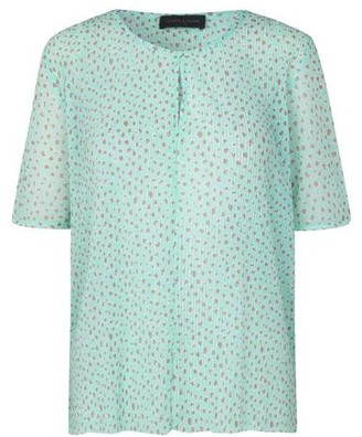 Storm & Marie - Heart Short Sleeve Blouse - M / All Over Print