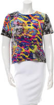 Amanda Uprichard Printed Silk Top