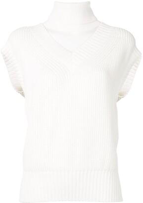 Sacai Layered Knitted Top