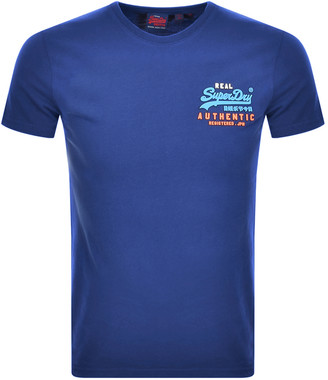 Superdry Authentic Short Sleeved T Shirt Blue