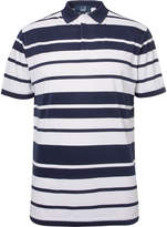 Dunhill Links - Blair Striped Stretch-piqué Golf Polo Shirt