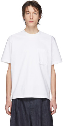 Solid Homme White Weight T-Shirt
