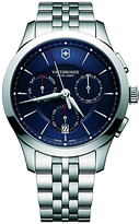 Victorinox 241746 Alliance Chronograph Day Date Bracelet Strap Watch, Silver/blue