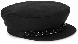 Eugenia Kim Marina black cashmere cap