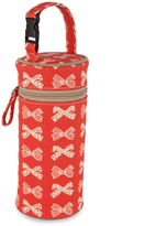Pink Lining Cream Bows on Red Bottle Holder