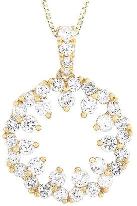 Non Branded 14K 0.68 Ct. Tw. Diamond Pendant Necklace
