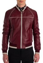 Dolce & Gabbana Leather Racing Moto Jacket