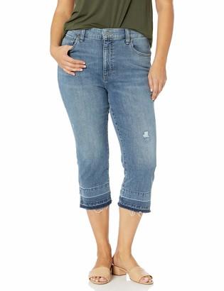 Lucky Brand Women's Size Plus HIGH Rise Emma Crop Jean in Lorain 14W