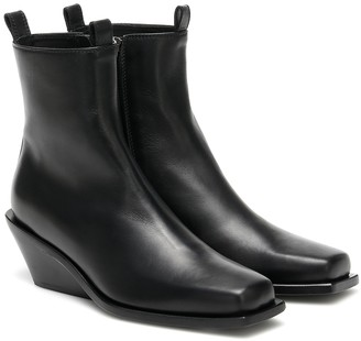 Ann Demeulemeester Leather square toe boots