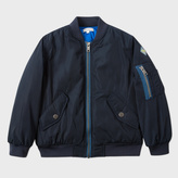 Paul Smith Boys' 7+ Years Navy Bomber Jacket With Striped Placket