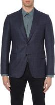 Armani Collezioni Modern-fit checked wool jacket