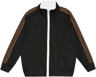 Fendi Kids FF jersey track jacket