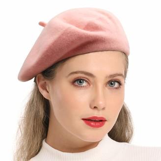 JOYHY Womens Block Color Woolen Artist French Style Beret Hat