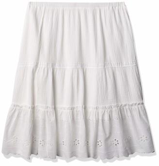 Rafaella Women's Mixed Media Maxi Skirt