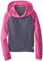 Soffe Big Girls' No Sweat Colorblock Hoodie Sweatshirt