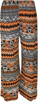 WearAll Plus Size Women's Print Palazzo Trousers