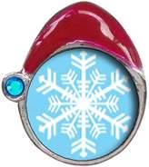 GiftJewelryShop Snowflake Blue Zircon Crystal December Birthstone Red Santa Hat Christmas Charm Beads Bracelets