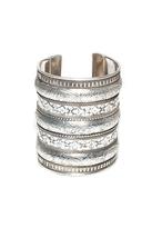 Natalie B Jewelry Azteca Cuff in Silver