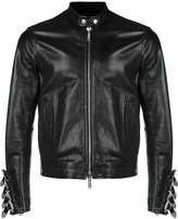DSQUARED2 buckled-cuffs leather jacket