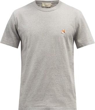 MAISON KITSUNÉ Fox Head-patch Cotton-jersey T-shirt - Grey