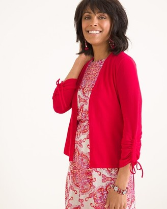 Chico's Ruched-Sleeve Cardigan
