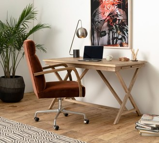 "Pottery Barn Jessie 53.5"" Reclaimed Wood Extending Desk"