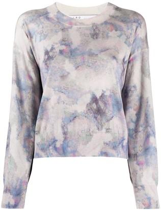 IRO Ribbed Round Neck Ink Dye Sweater