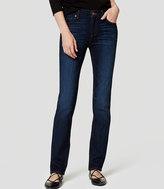 LOFT Petite Modern Straight Leg Jeans in Dark Stonewash