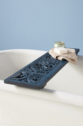 Anthropologie Handcarved Lombok Bath Caddy By in Blue