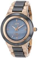 Mother of Pearl Oniss Paris Women's ON435-LRG/BK Analog High-Tech Ceramic Case Mother-Of-Pearl Dial Swiss-Quartz Watch