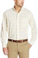 Izod Men's Long Sleeve Hamilton Poplin Medium Plaid Shirt
