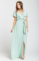 MUMU Audrey Maxi Dress ~ Dusty Mint Crisp