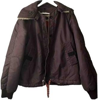 Diesel Black Gold Purple Leather Jacket for Women