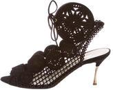 Nicholas Kirkwood Suede Laser Cut Sandals