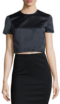 Zac Posen Box Top with Seam Detail, Midnight