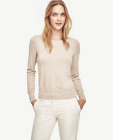 Ann Taylor Petite Button Cuff Sweater
