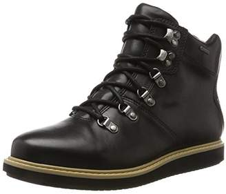 Clarks Women's GlickAsha GTX Boots, Black (Black Leather Black Leather)