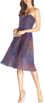 Thumbnail for your product : Dress the Population Rosalie Metallic Strapless Sweetheart Dress
