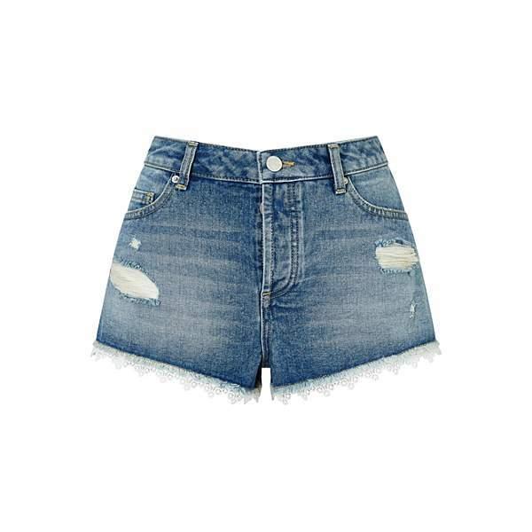 Miss Selfridge Petite Lace Trim Short