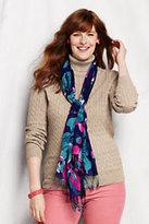 Classic Women's Plus Size Cotton Cable Turtleneck Sweater-Brandywine