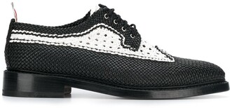 Thom Browne Woven Leather Brogues