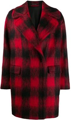 Tagliatore checked cocoon coat