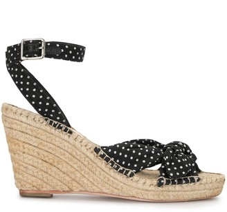 Loeffler Randall Tessa polka dot sandals