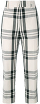 Sofie D'hoore check cropped trousers - women - Cotton - 40