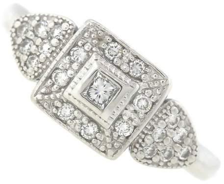 Charriol Philippe 18K White Gold Diamond Ring