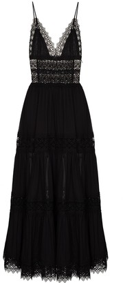 Charo Ruiz Ibiza Cindy lace-trim maxi dress