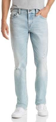 True Religion Ricky No Flap Straight Slim Fit Jeans in Worn Blue Tide